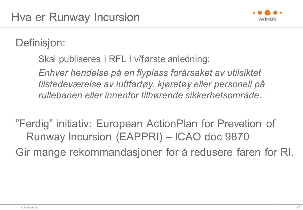 Hva er Runway Incursion