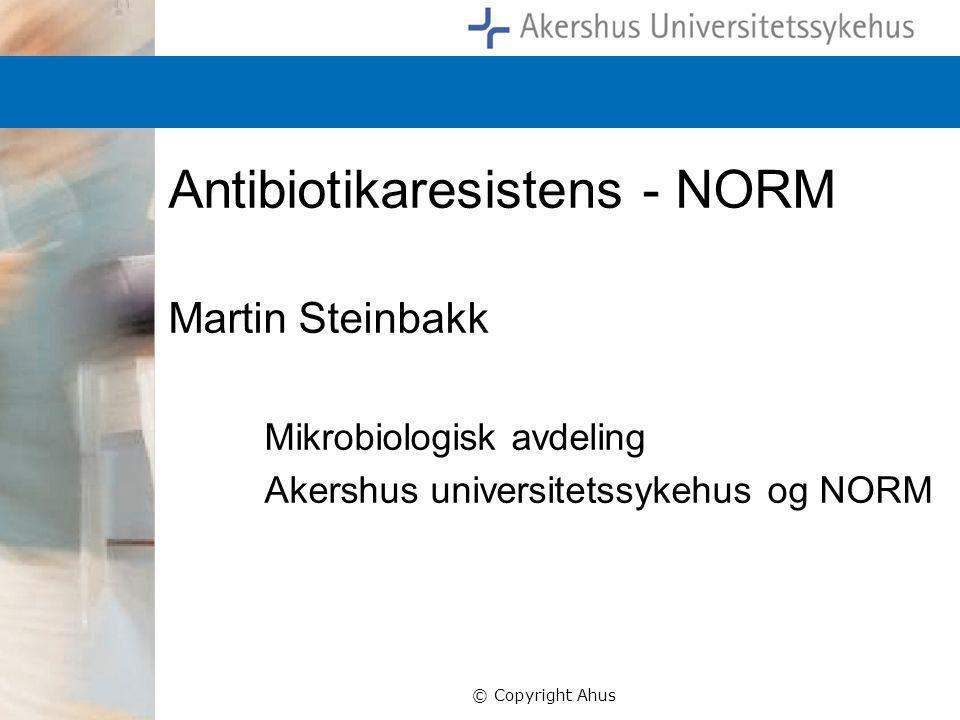 Antibiotikaresistens - NORM