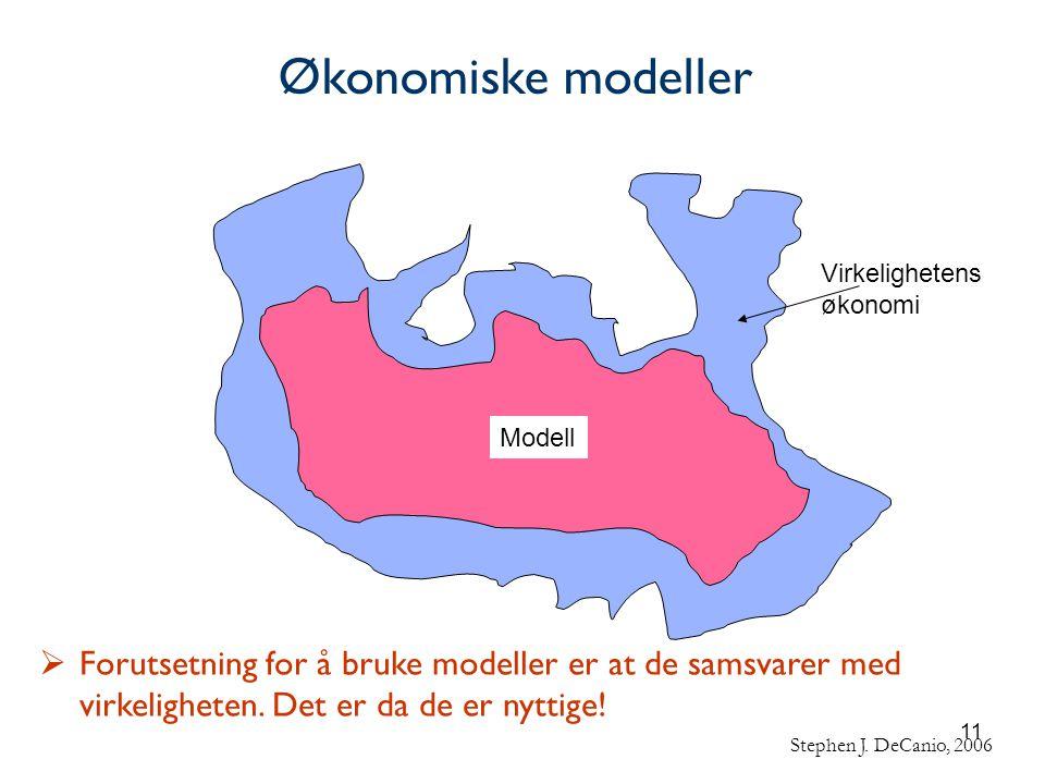 Økonomiske modeller Virkelighetens. økonomi. Modell.
