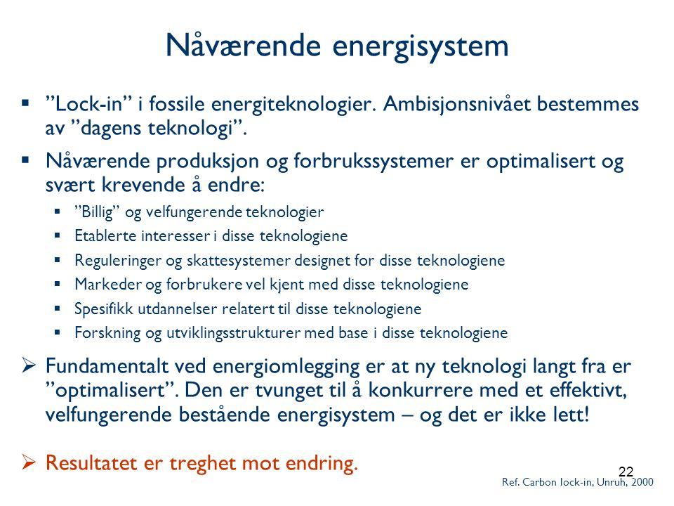 Nåværende energisystem