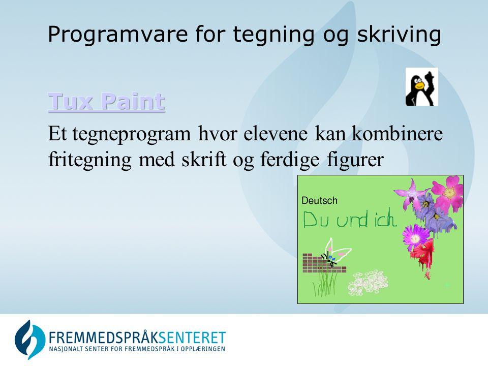 Programvare for tegning og skriving