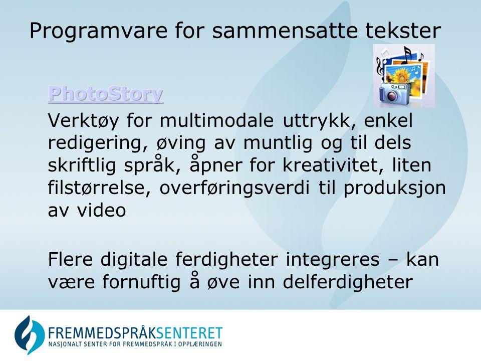 Programvare for sammensatte tekster