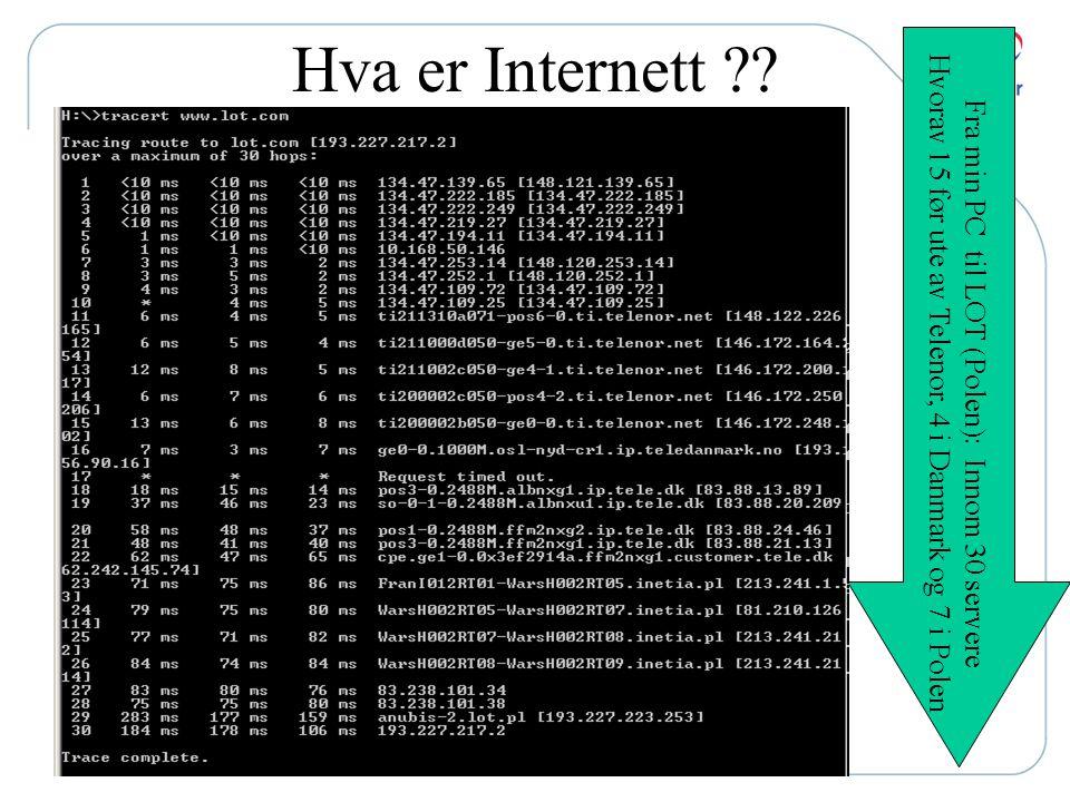 Hva er Internett . Hvorav 15 før ute av Telenor, 4 i Danmark og 7 i Polen.