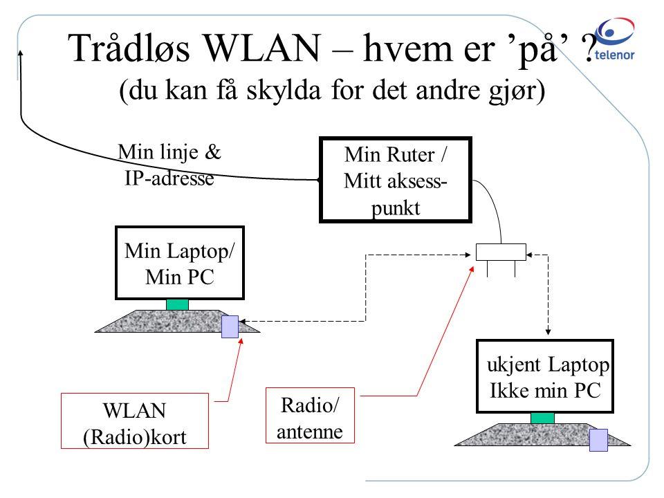 Trådløs WLAN – hvem er 'på' (du kan få skylda for det andre gjør)
