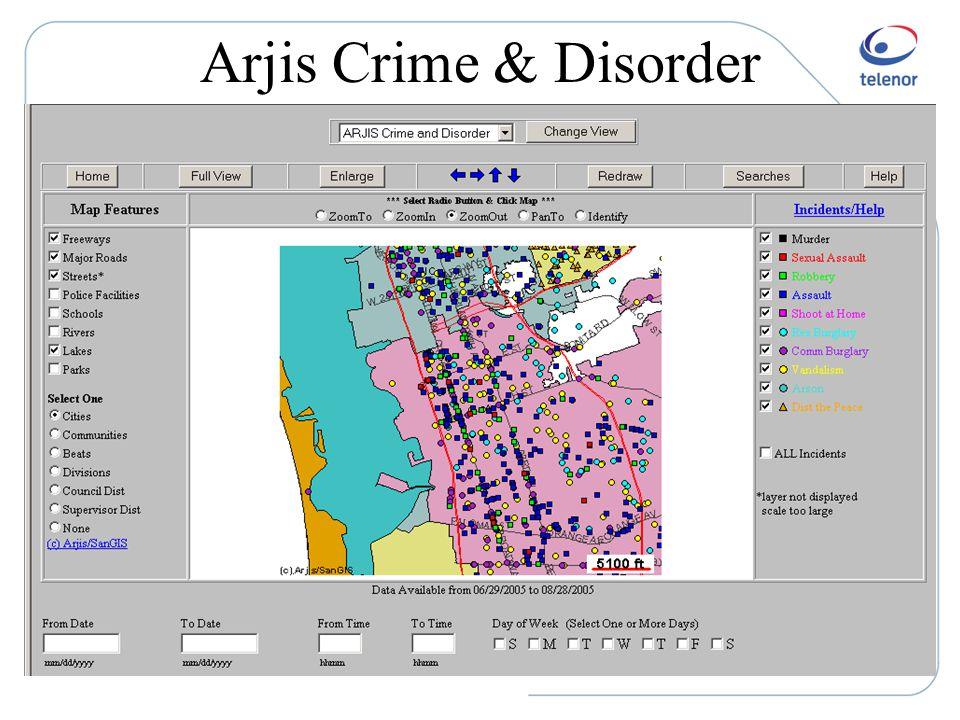 Arjis Crime & Disorder