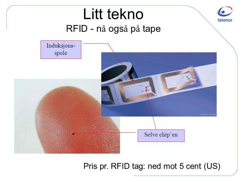 Litt tekno RFID - nå også på tape
