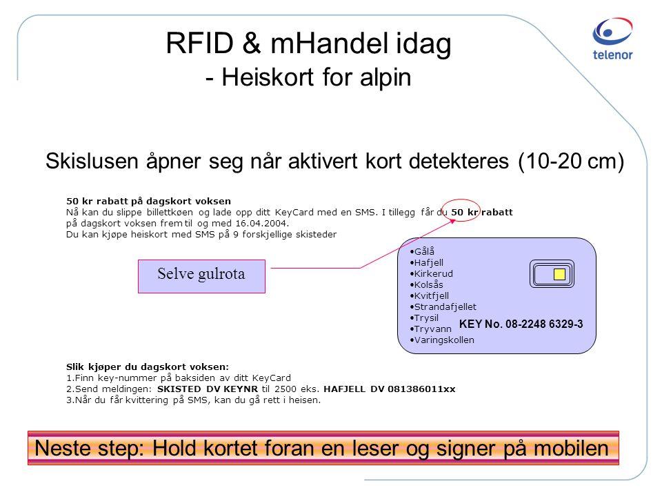 RFID & mHandel idag - Heiskort for alpin