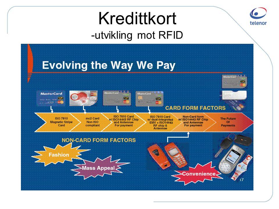 Kredittkort -utvikling mot RFID