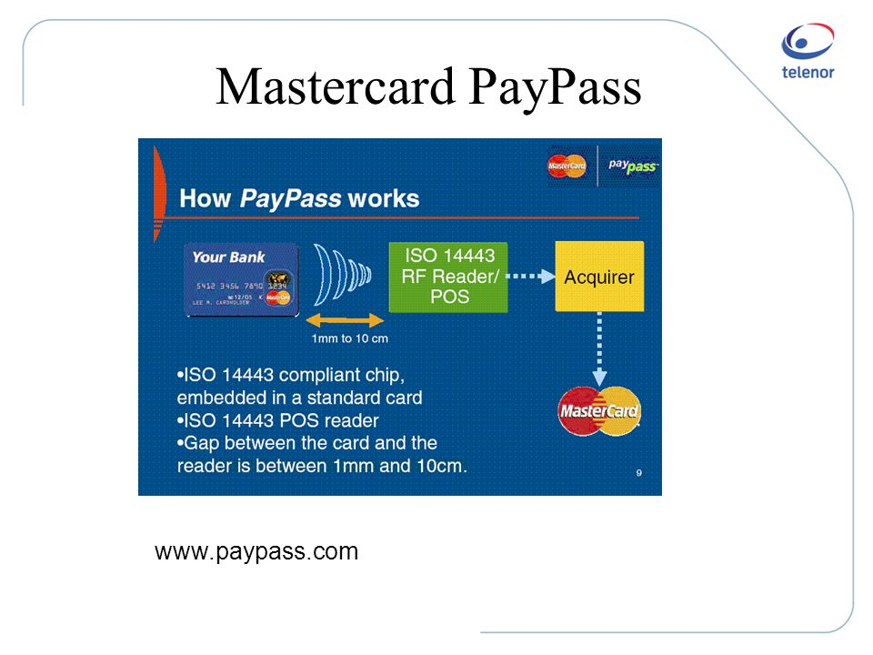 Mastercard PayPass www.paypass.com