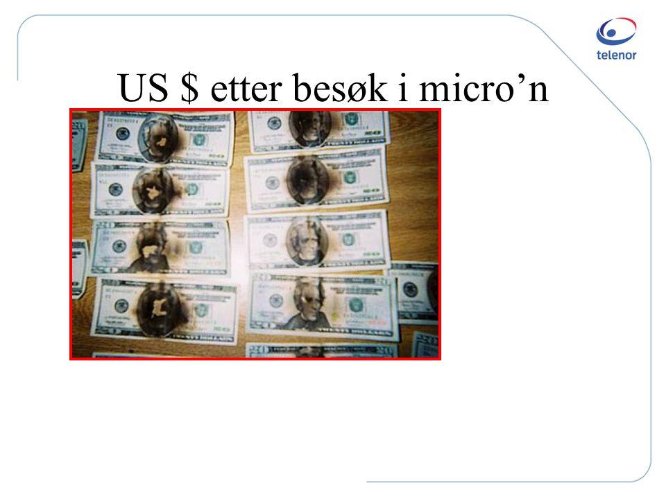US $ etter besøk i micro'n