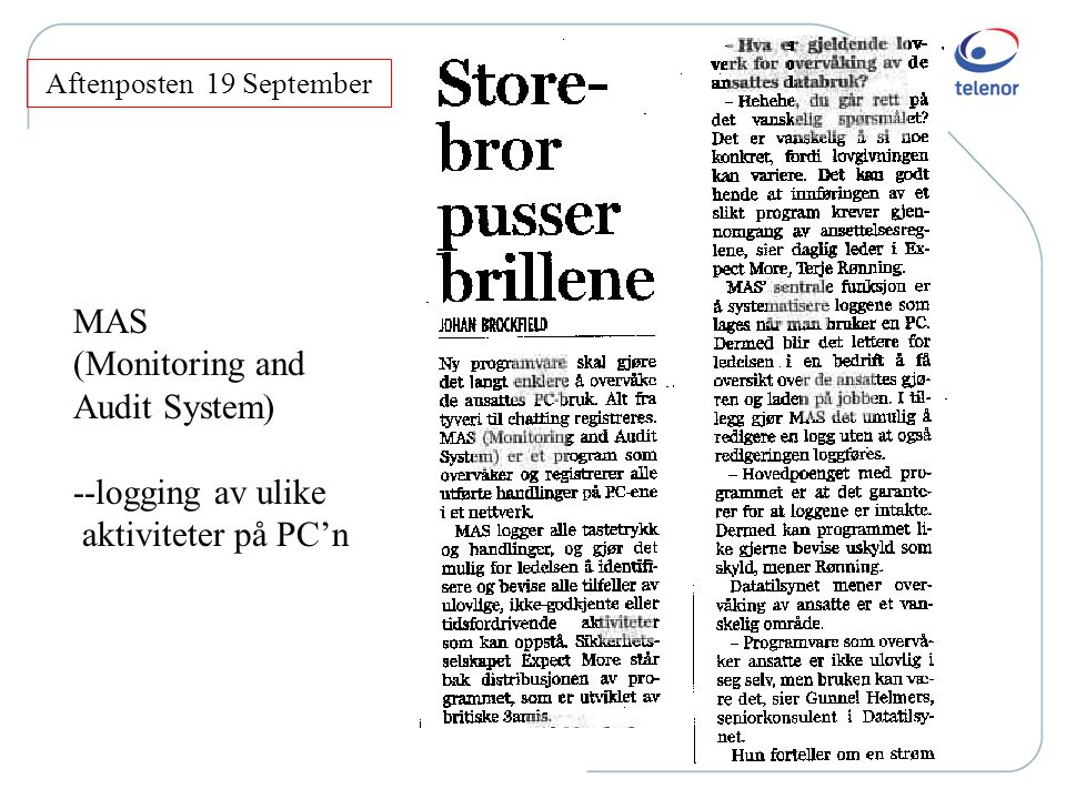 Aftenposten 19 September