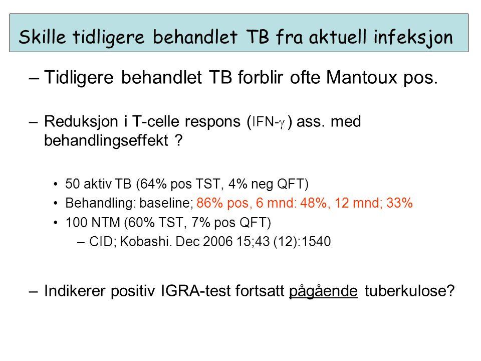 Skille tidligere behandlet TB fra aktuell infeksjon