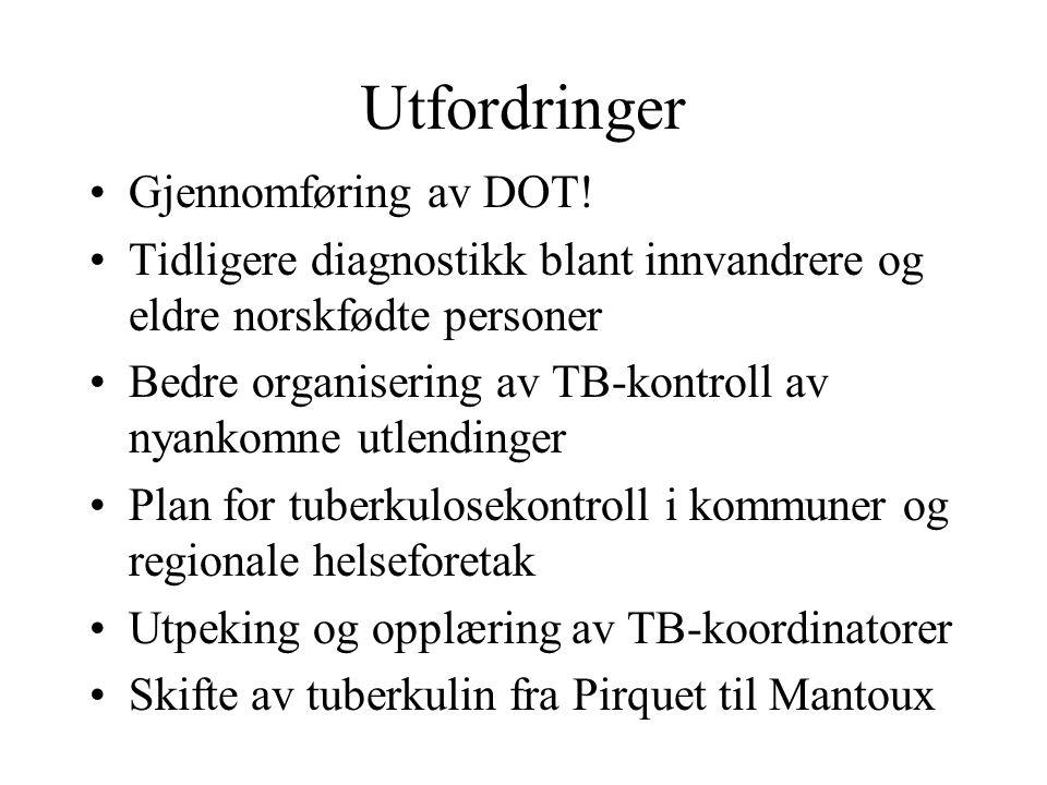Utfordringer Gjennomføring av DOT!