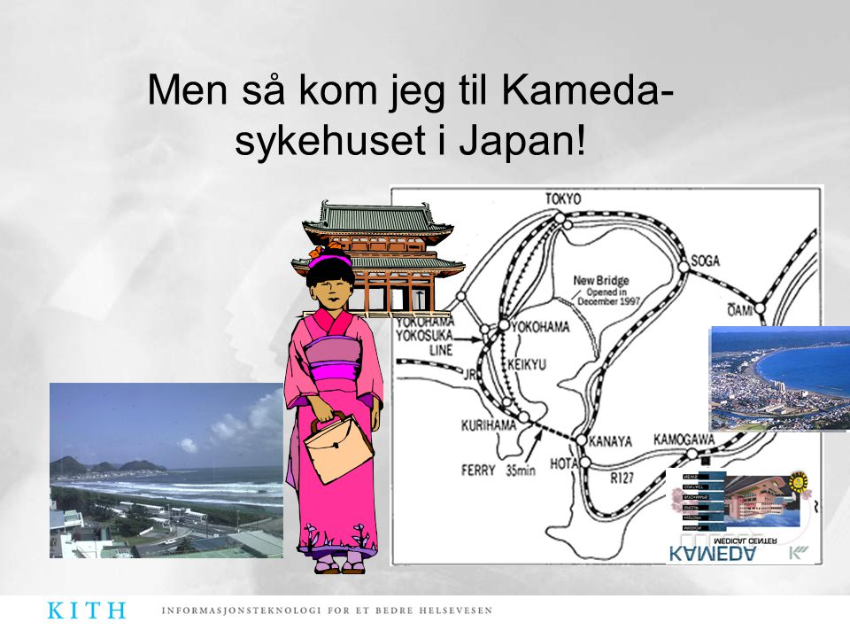 Men så kom jeg til Kameda-sykehuset i Japan!