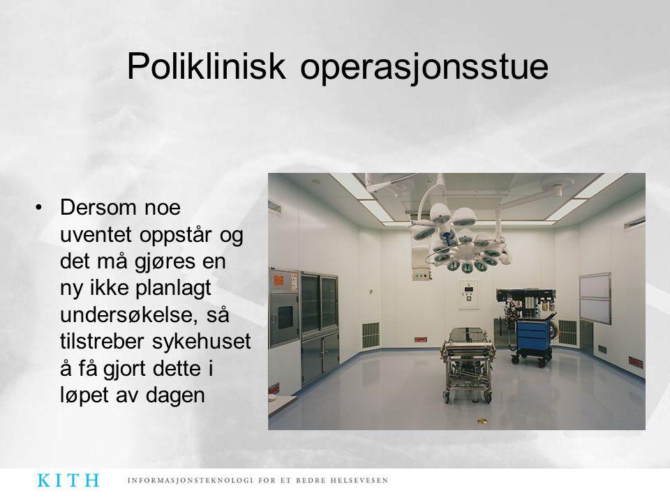 Poliklinisk operasjonsstue