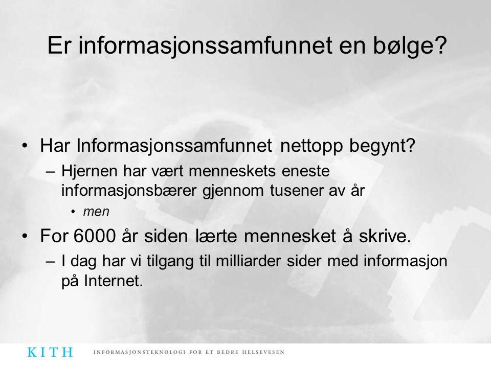 Er informasjonssamfunnet en bølge