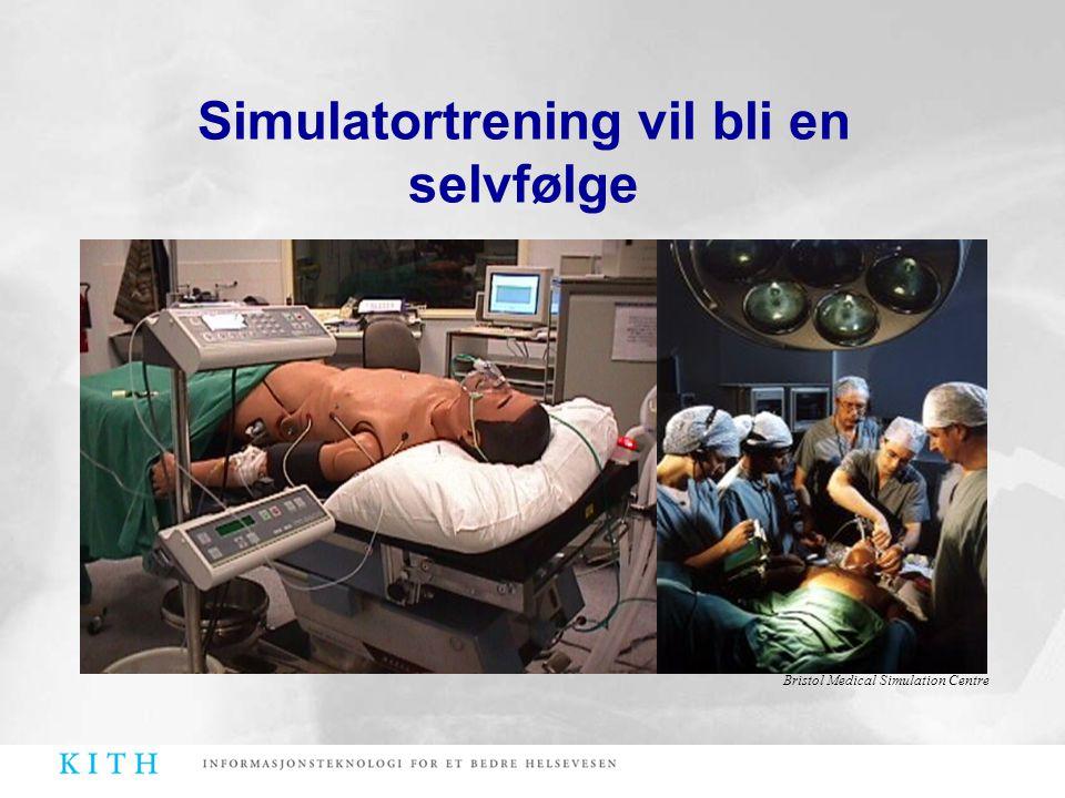 Simulatortrening vil bli en selvfølge