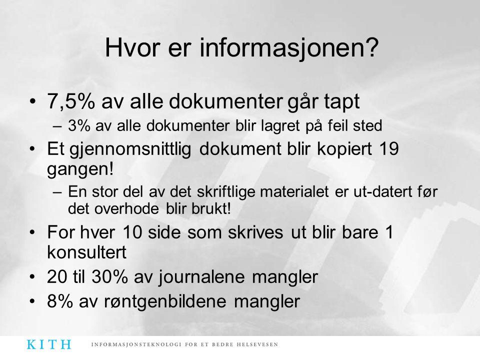 Hvor er informasjonen 7,5% av alle dokumenter går tapt