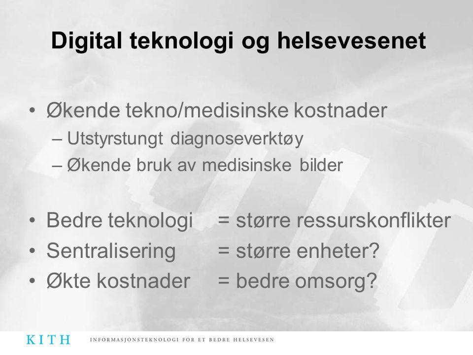 Digital teknologi og helsevesenet