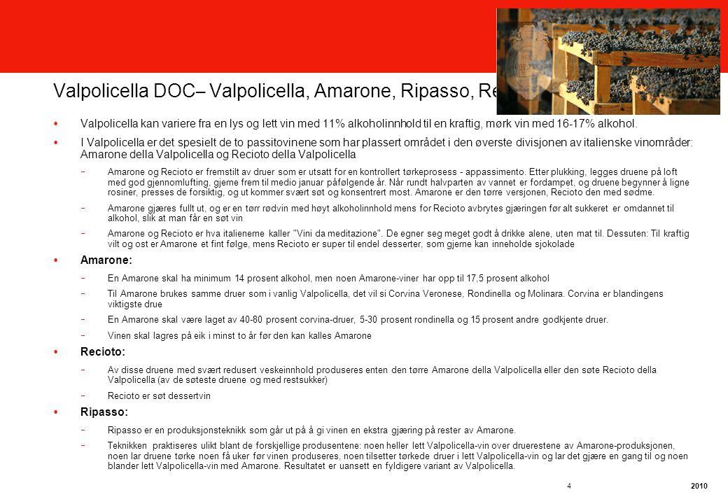 Valpolicella DOC– Valpolicella, Amarone, Ripasso, Recioto