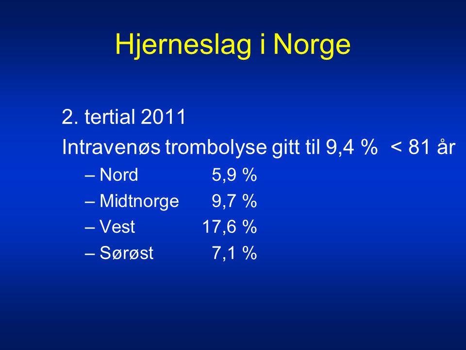 Hjerneslag i Norge 2. tertial 2011