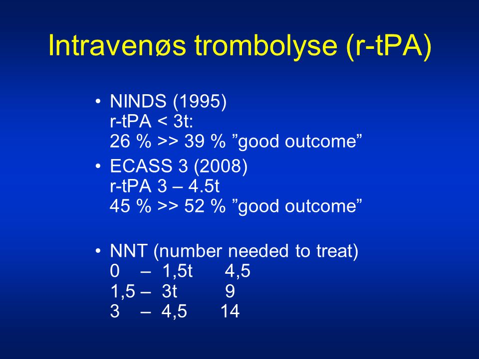 Intravenøs trombolyse (r-tPA)