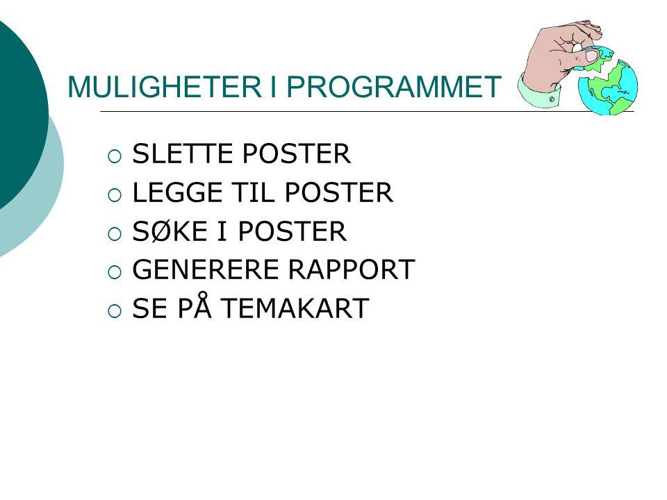 MULIGHETER I PROGRAMMET
