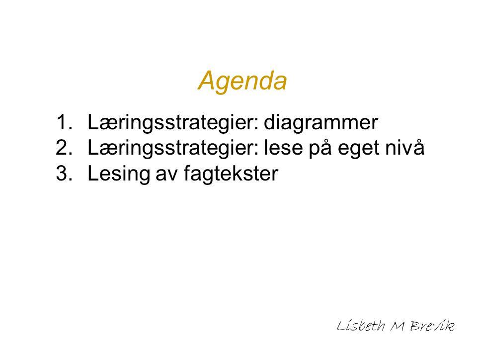 Agenda Læringsstrategier: diagrammer
