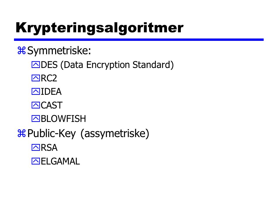 Krypteringsalgoritmer