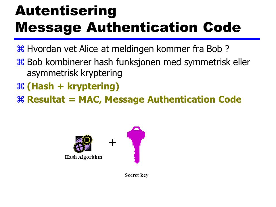 Autentisering Message Authentication Code