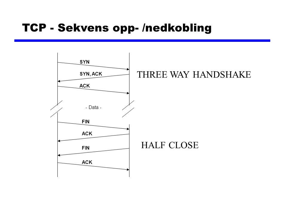 TCP - Sekvens opp- /nedkobling