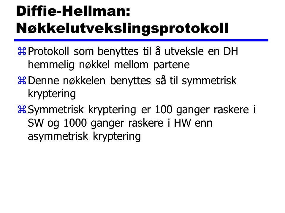 Diffie-Hellman: Nøkkelutvekslingsprotokoll