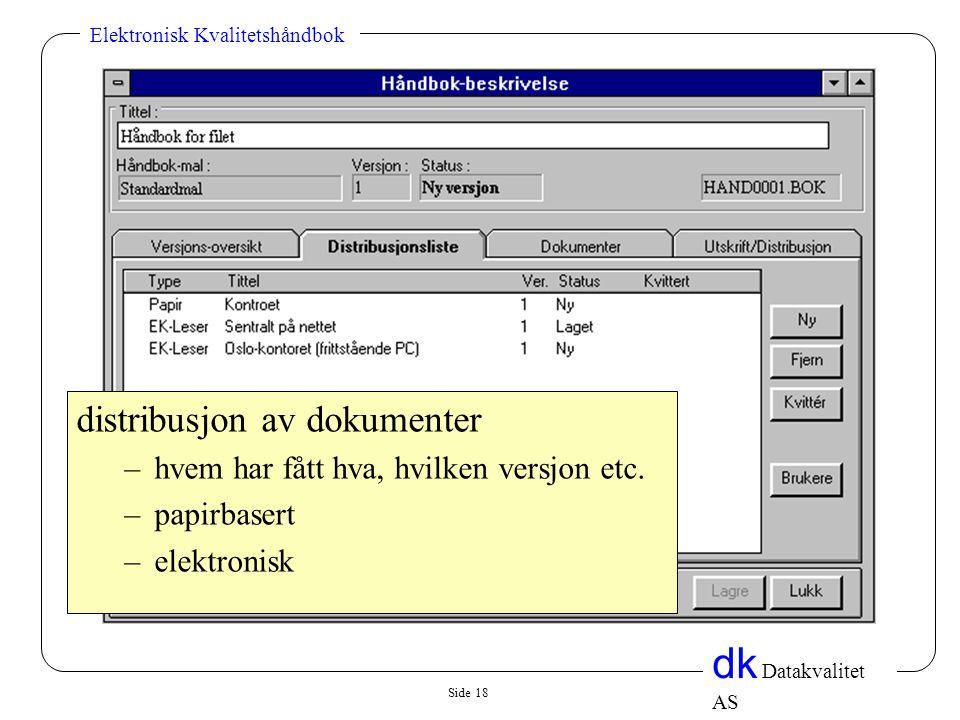 distribusjon av dokumenter
