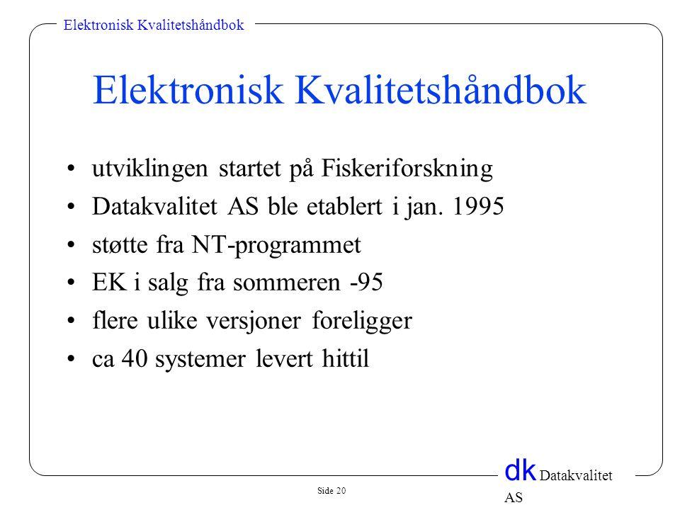 Elektronisk Kvalitetshåndbok