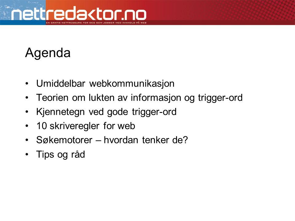 Agenda Umiddelbar webkommunikasjon