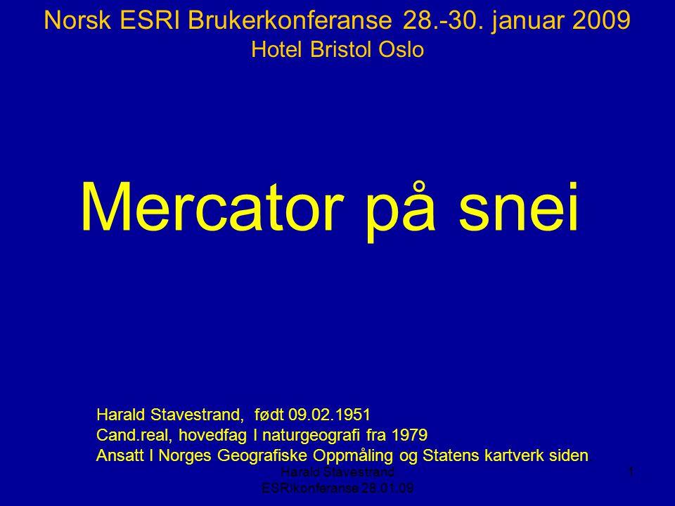 Mercator på snei Norsk ESRI Brukerkonferanse 28.-30. januar 2009