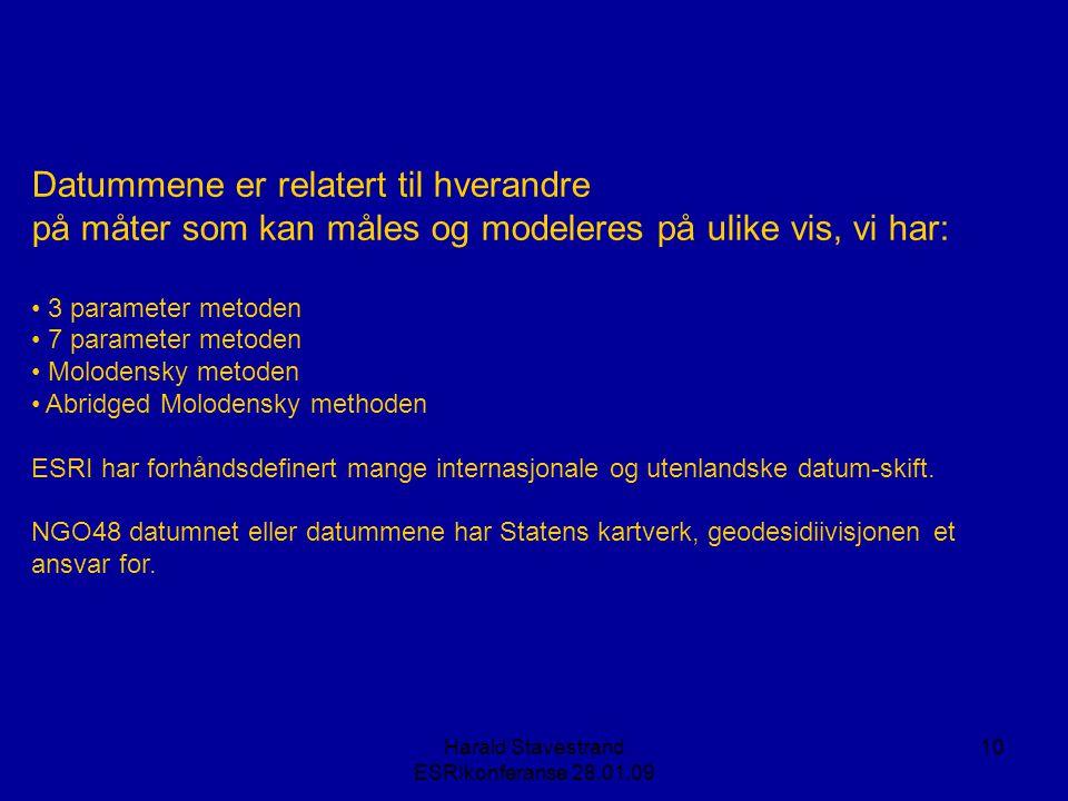 Harald Stavestrand ESRIkonferanse 28.01.09