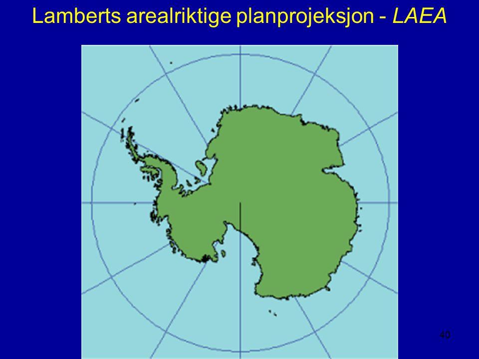 Lamberts arealriktige planprojeksjon - LAEA