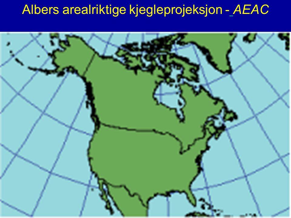 Albers arealriktige kjegleprojeksjon - AEAC