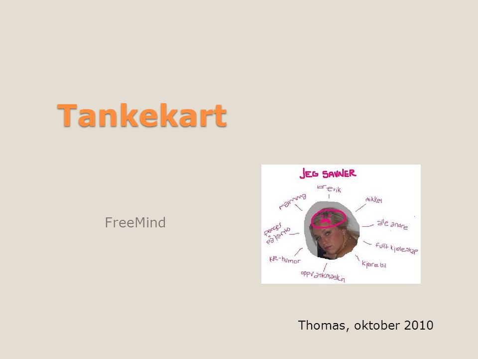 Tankekart FreeMind Thomas, oktober 2010