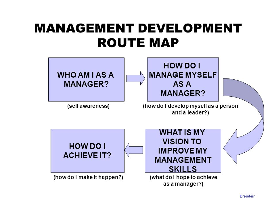 MANAGEMENT DEVELOPMENT ROUTE MAP