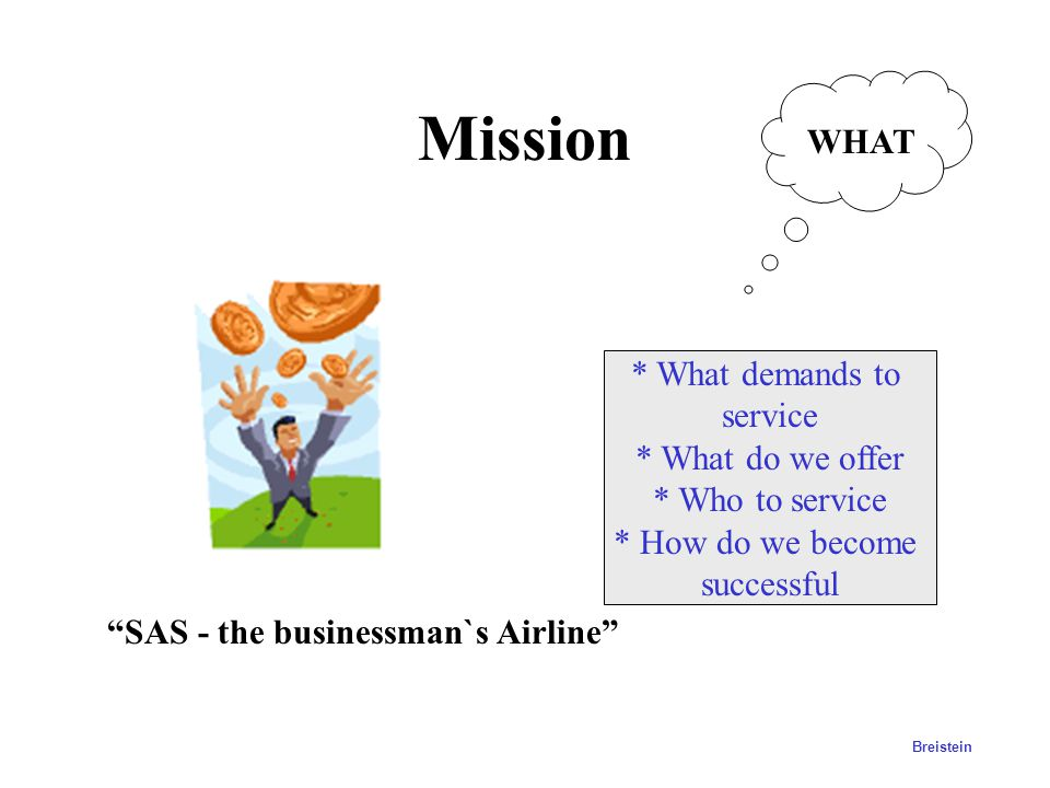Mission WHAT * What demands to service * What do we offer