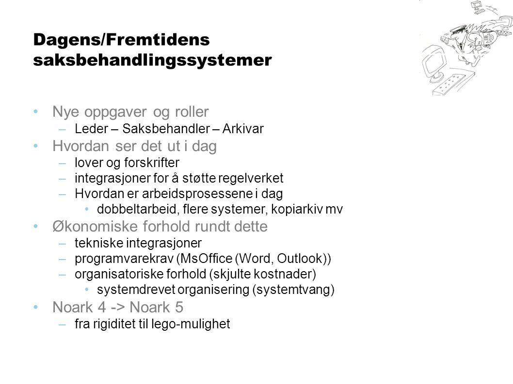Dagens/Fremtidens saksbehandlingssystemer