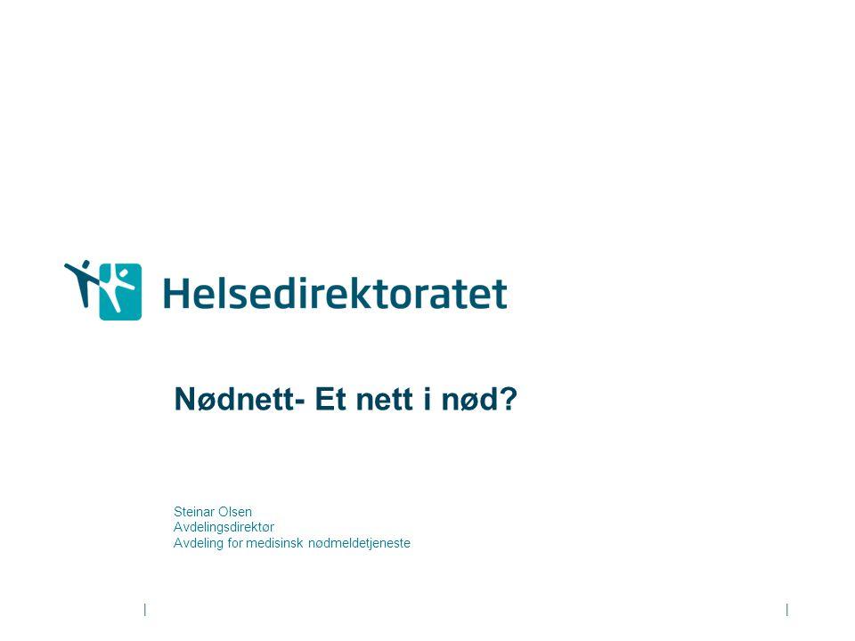 Nødnett- Et nett i nød Steinar Olsen Avdelingsdirektør