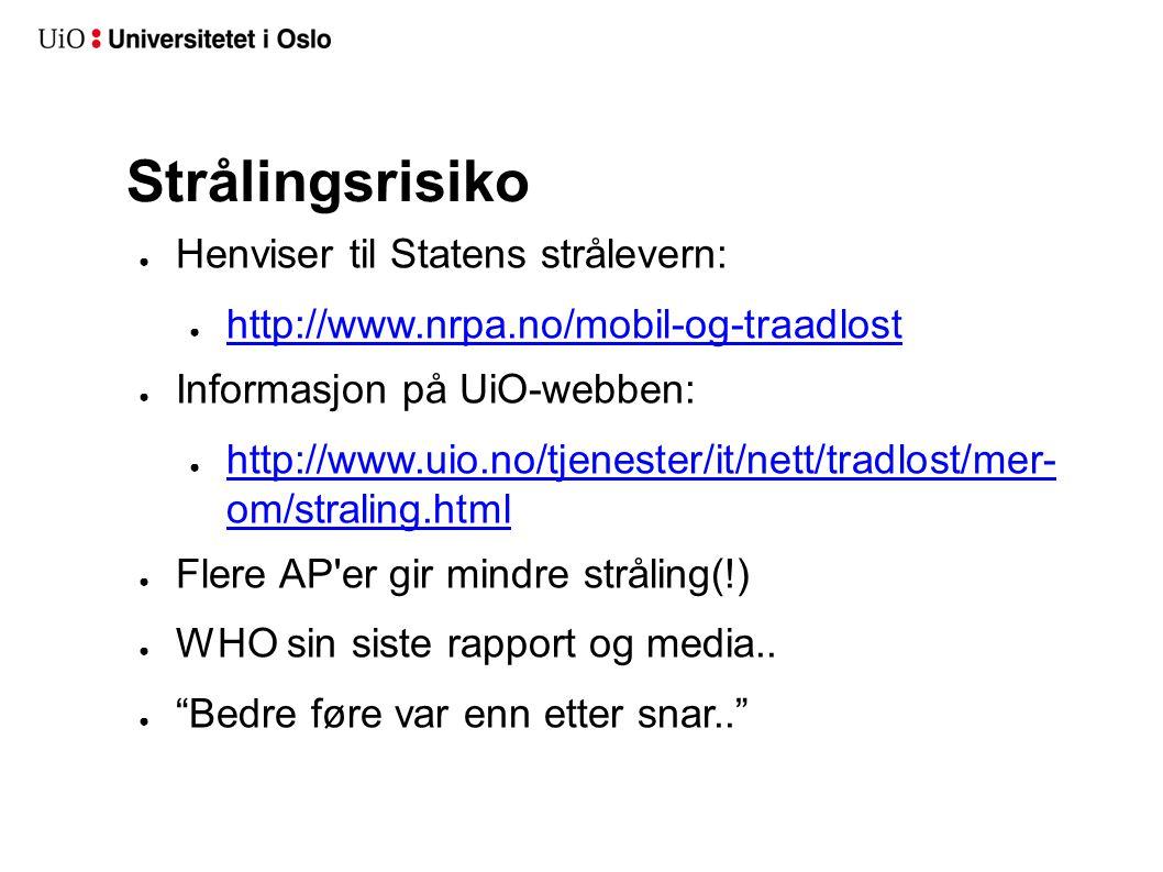 Strålingsrisiko Henviser til Statens strålevern: