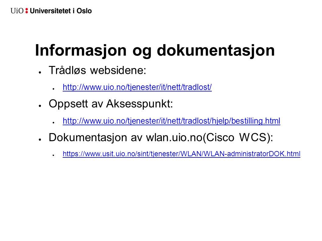 Informasjon og dokumentasjon
