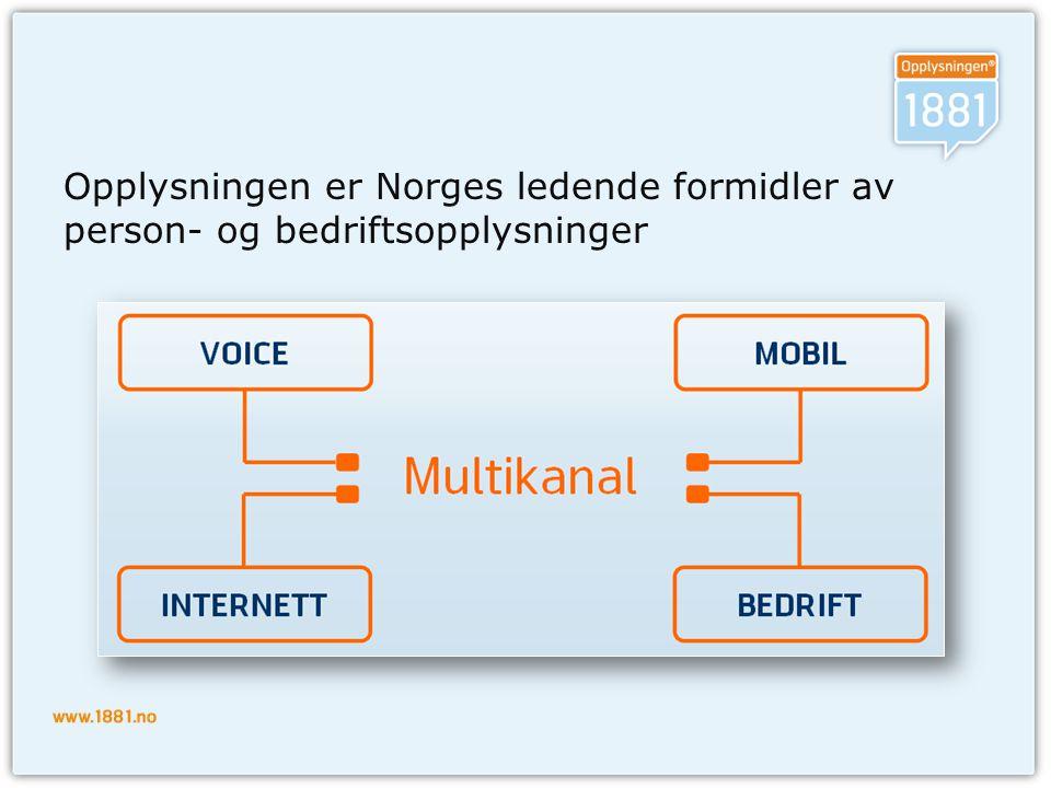 Opplysningen er Norges ledende formidler av person- og bedriftsopplysninger