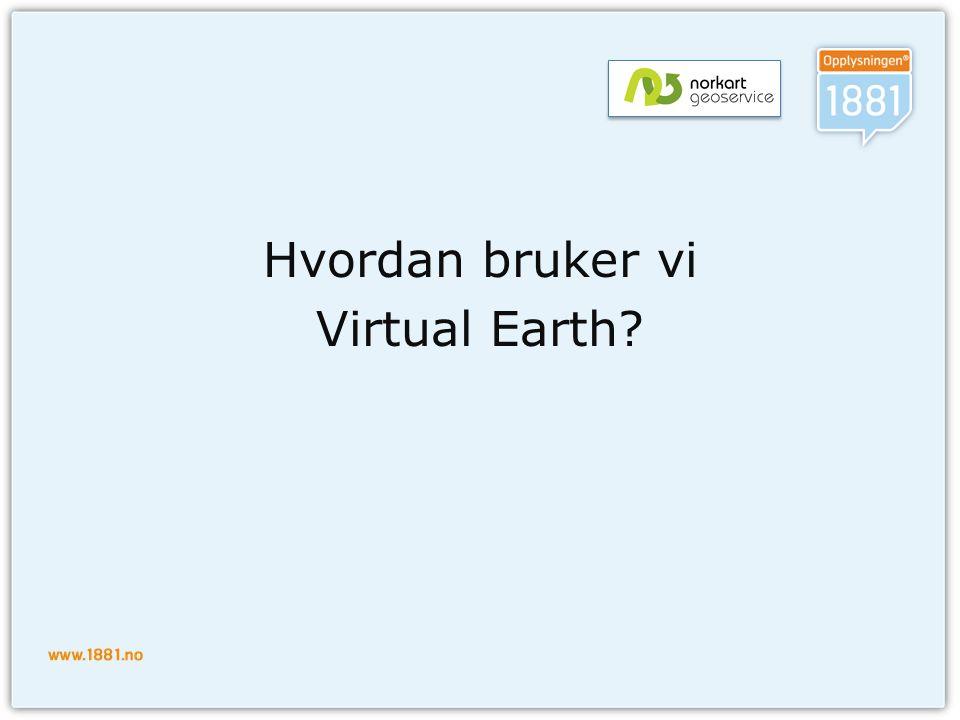 Hvordan bruker vi Virtual Earth