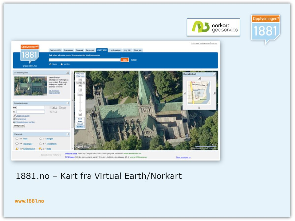 1881.no – Kart fra Virtual Earth/Norkart