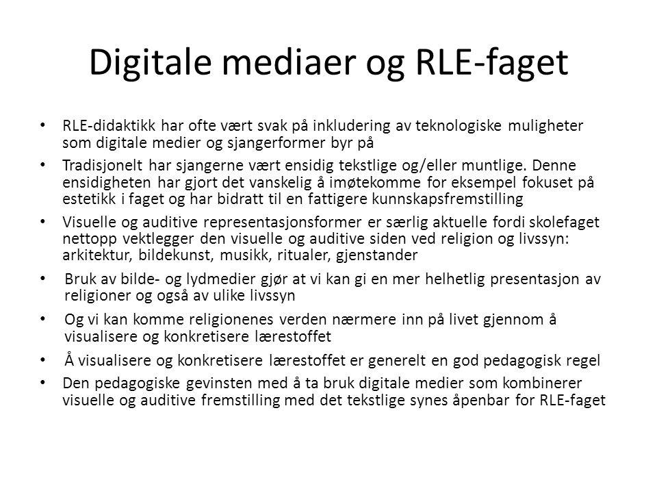 Digitale mediaer og RLE-faget